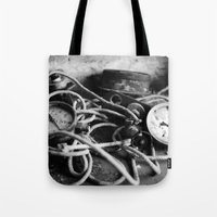 cabin pressure Tote Bags featuring pressure by Ruthie Aviles