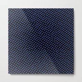 Blue Triskele on Black Pattern Metal Print