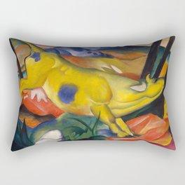 """Franz Marc """"Yellow cow"""" Rectangular Pillow"""
