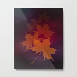 Falling Autumn Metal Print
