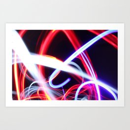 Lightpainting abstract Art Print