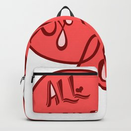 All you need is love - Lettering Red Backpack