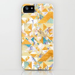 Maroccan Golden Geometric Pattern iPhone Case