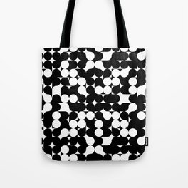 Black & White Graphic Circles Tote Bag