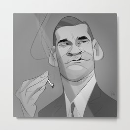 Cartoon Draper Metal Print