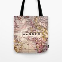 not all who wander are lost Tote Bags featuring wander by Sylvia Cook Photography