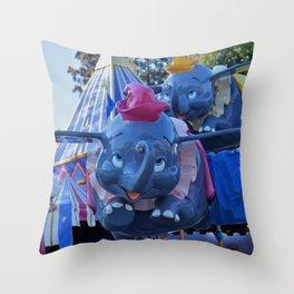 Amazing Flying Elephant Throw Pillow