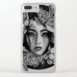 Koi girl Clear iPhone Case