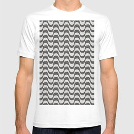 Copacabana Beach Rio de Janeiro - Sidewalk Black and White Portuguese Stone T-shirt