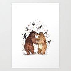 Bear Dance Art Print