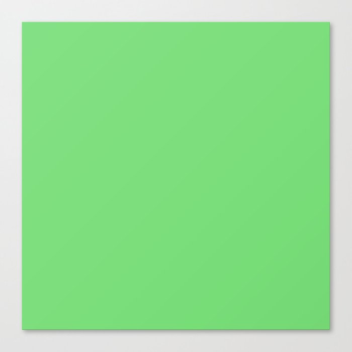 Soft Chalky Pastel Green Solid Color Canvas Print