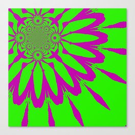 The Modern Flower Green & Purple Canvas Print