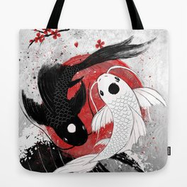 Koi fish - Yin Yang Tote Bag