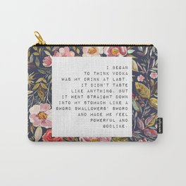 Vodka was my drink - S. Plath Collection Carry-All Pouch