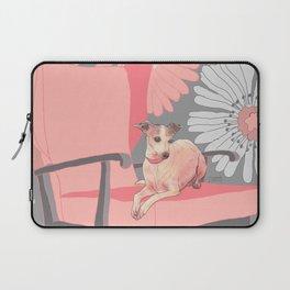 Dog in a chair #3 Italian Greyhound Laptop Sleeve