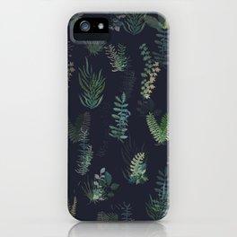 green garden at nigth mirror!!! iPhone Case