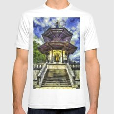 The Pagoda Vincent Van Gogh White Mens Fitted Tee MEDIUM