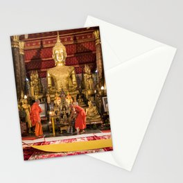 Monks at Work in the Temple II - Luang Prabang, Laos Stationery Cards