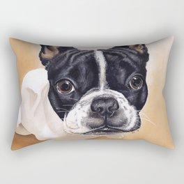 French Bulldog Gouache Artwork Rectangular Pillow
