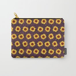 Sunflower Field - Pink Carry-All Pouch