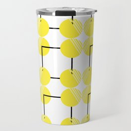 pattern circulos amarillos Travel Mug