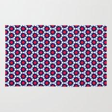 Red & Blue Pattern Rug