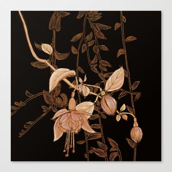 golden botanics Canvas Print