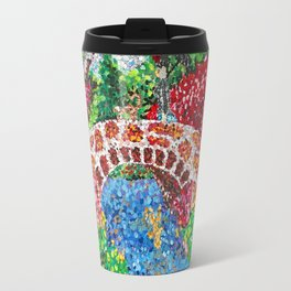 Pointalism Pond Travel Mug
