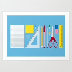 Office Supplies Art Print