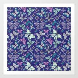 Butterfly Fantasy in Purple Art Print