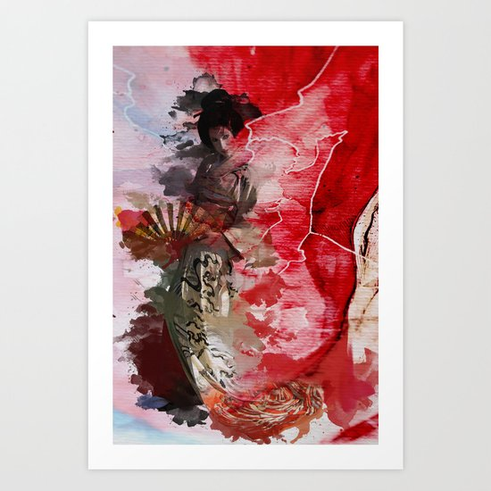 Geisha's Delight Art Print