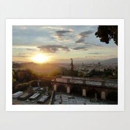 Florence at Sunset Art Print