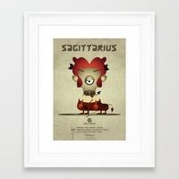 sagittarius Framed Art Prints featuring SAGITTARIUS by Angelo Cerantola