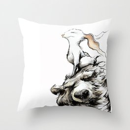 Feel the wind in your ears Throw Pillow