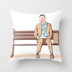 Bubble Gump Throw Pillow