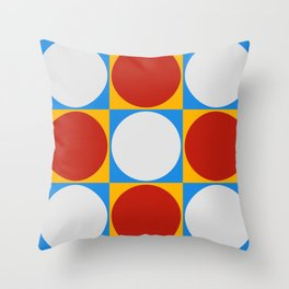 Dots on Checkerboard Throw Pillow