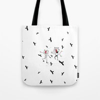 angels Tote Bags featuring angels by julianesc