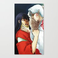 inuyasha Canvas Prints featuring Inuyasha - Disgrace by MyopicBloom