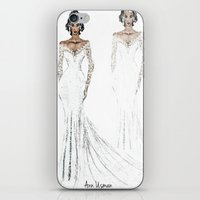 bride iPhone & iPod Skins featuring bride by Ann Usman