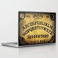 ouija Laptop & iPad Skins featuring Ouija Board by Lostfog Co↟