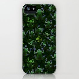 Frogs On Weed iPhone Case