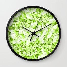 Frantic Floral Fun Fest Wall Clock