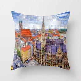 Munich Cityscape Throw Pillow