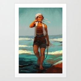 Elven sailor Art Print