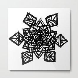 Cosmic Snowflake Metal Print