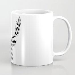Zig Zag Modern Deer Head Coffee Mug