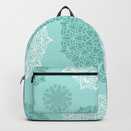 Heart Mandala Turquoise Backpack