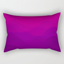 Purple and Pink Waves Rectangular Pillow