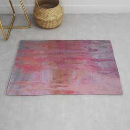 abstract river through the forest Rug