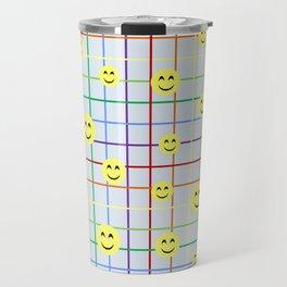 Colorful Smileys 2 - light blue Travel Mug